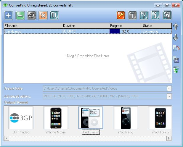 Click to view ConvertVid 1.0.0.28 screenshot
