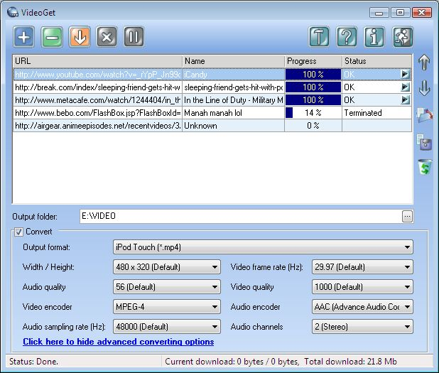Click to view VideoGet 7.0.3.92 screenshot