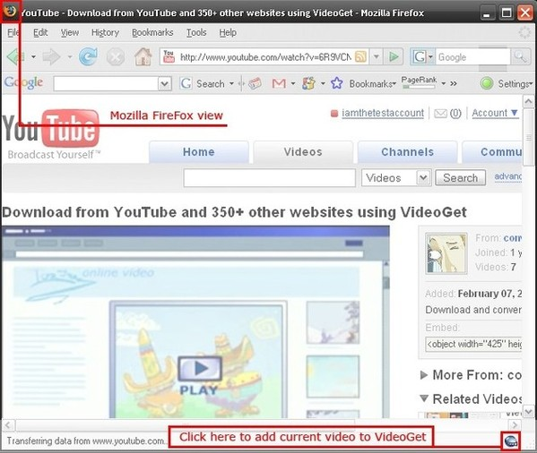 Download YouTube Video in Mozilla FireFox